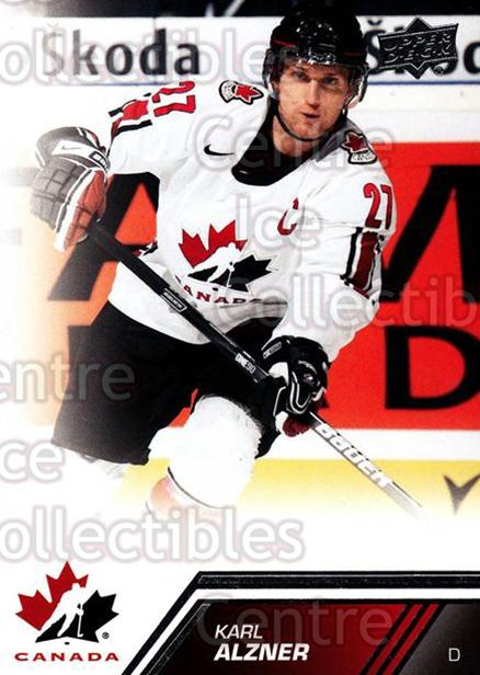 2013-14 Upper Deck Team Canada #57 Karl Alzner<br/>5 In Stock - $1.00 each - <a href=https://centericecollectibles.foxycart.com/cart?name=2013-14%20Upper%20Deck%20Team%20Canada%20%2357%20Karl%20Alzner...&quantity_max=5&price=$1.00&code=643442 class=foxycart> Buy it now! </a>