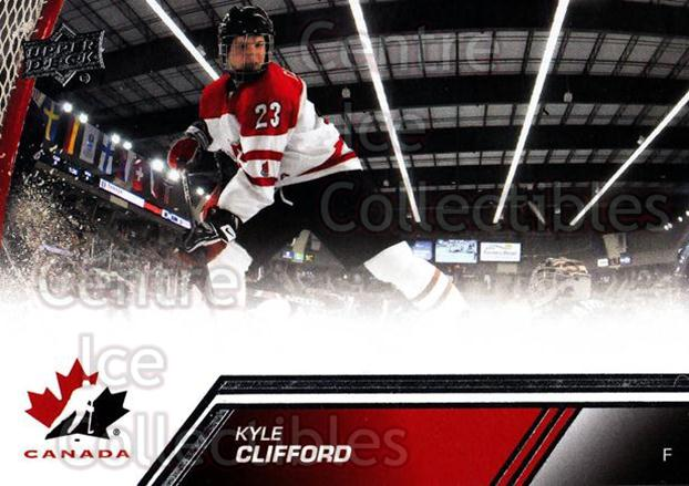 2013-14 Upper Deck Team Canada #60 Kyle Clifford<br/>6 In Stock - $1.00 each - <a href=https://centericecollectibles.foxycart.com/cart?name=2013-14%20Upper%20Deck%20Team%20Canada%20%2360%20Kyle%20Clifford...&quantity_max=6&price=$1.00&code=643445 class=foxycart> Buy it now! </a>