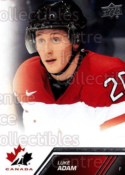 2013-14 Upper Deck Team Canada #61 Luke Adam<br/>6 In Stock - $1.00 each - <a href=https://centericecollectibles.foxycart.com/cart?name=2013-14%20Upper%20Deck%20Team%20Canada%20%2361%20Luke%20Adam...&quantity_max=6&price=$1.00&code=643446 class=foxycart> Buy it now! </a>
