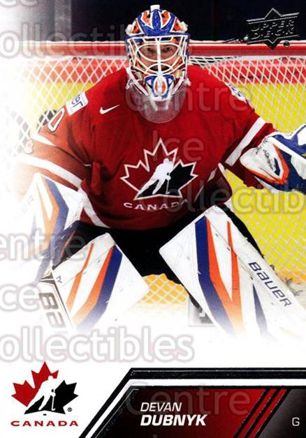 2013-14 Upper Deck Team Canada #63 Devan Dubnyk<br/>6 In Stock - $1.00 each - <a href=https://centericecollectibles.foxycart.com/cart?name=2013-14%20Upper%20Deck%20Team%20Canada%20%2363%20Devan%20Dubnyk...&quantity_max=6&price=$1.00&code=643448 class=foxycart> Buy it now! </a>