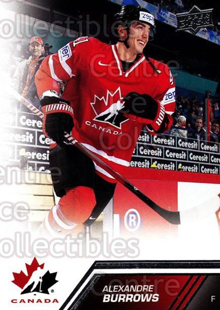 2013-14 Upper Deck Team Canada #101 Alexandre Burrows<br/>6 In Stock - $2.00 each - <a href=https://centericecollectibles.foxycart.com/cart?name=2013-14%20Upper%20Deck%20Team%20Canada%20%23101%20Alexandre%20Burro...&quantity_max=6&price=$2.00&code=643486 class=foxycart> Buy it now! </a>
