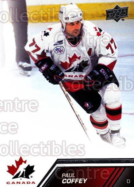 2013-14 Upper Deck Team Canada #107 Paul Coffey<br/>2 In Stock - $3.00 each - <a href=https://centericecollectibles.foxycart.com/cart?name=2013-14%20Upper%20Deck%20Team%20Canada%20%23107%20Paul%20Coffey...&quantity_max=2&price=$3.00&code=643492 class=foxycart> Buy it now! </a>