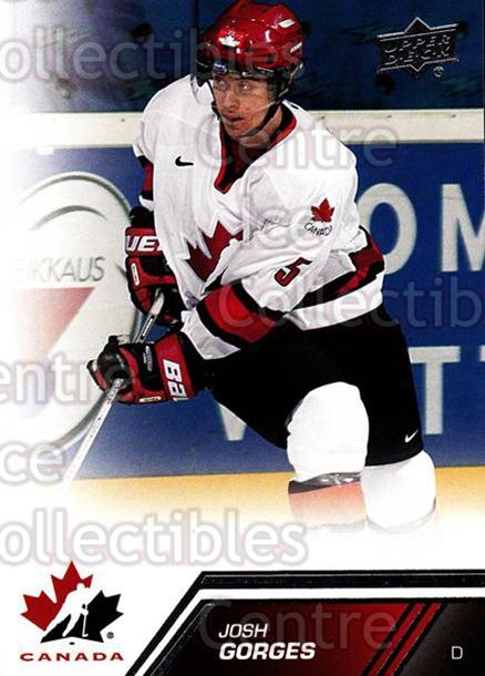 2013-14 Upper Deck Team Canada #144 Josh Gorges<br/>7 In Stock - $2.00 each - <a href=https://centericecollectibles.foxycart.com/cart?name=2013-14%20Upper%20Deck%20Team%20Canada%20%23144%20Josh%20Gorges...&quantity_max=7&price=$2.00&code=643529 class=foxycart> Buy it now! </a>
