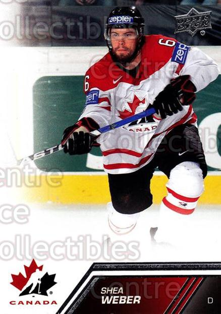2013-14 Upper Deck Team Canada #154 Shea Weber<br/>4 In Stock - $2.00 each - <a href=https://centericecollectibles.foxycart.com/cart?name=2013-14%20Upper%20Deck%20Team%20Canada%20%23154%20Shea%20Weber...&quantity_max=4&price=$2.00&code=643539 class=foxycart> Buy it now! </a>