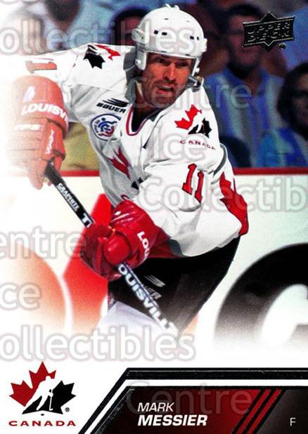 2013-14 Upper Deck Team Canada #156 Mark Messier<br/>4 In Stock - $2.00 each - <a href=https://centericecollectibles.foxycart.com/cart?name=2013-14%20Upper%20Deck%20Team%20Canada%20%23156%20Mark%20Messier...&quantity_max=4&price=$2.00&code=643541 class=foxycart> Buy it now! </a>