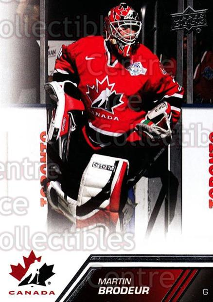 2013-14 Upper Deck Team Canada #158 Martin Brodeur<br/>2 In Stock - $5.00 each - <a href=https://centericecollectibles.foxycart.com/cart?name=2013-14%20Upper%20Deck%20Team%20Canada%20%23158%20Martin%20Brodeur...&quantity_max=2&price=$5.00&code=643543 class=foxycart> Buy it now! </a>