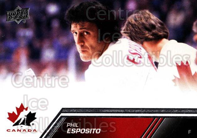 2013-14 Upper Deck Team Canada #172 Phil Esposito<br/>4 In Stock - $2.00 each - <a href=https://centericecollectibles.foxycart.com/cart?name=2013-14%20Upper%20Deck%20Team%20Canada%20%23172%20Phil%20Esposito...&quantity_max=4&price=$2.00&code=643557 class=foxycart> Buy it now! </a>