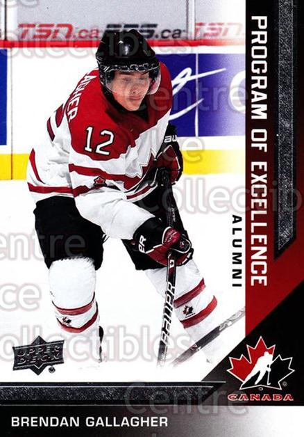 2013-14 Upper Deck Team Canada #215 Brendan Gallagher<br/>3 In Stock - $3.00 each - <a href=https://centericecollectibles.foxycart.com/cart?name=2013-14%20Upper%20Deck%20Team%20Canada%20%23215%20Brendan%20Gallagh...&quantity_max=3&price=$3.00&code=643600 class=foxycart> Buy it now! </a>