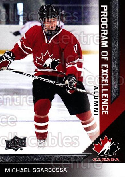 2013-14 Upper Deck Team Canada #217 Michael Sgarbossa<br/>2 In Stock - $3.00 each - <a href=https://centericecollectibles.foxycart.com/cart?name=2013-14%20Upper%20Deck%20Team%20Canada%20%23217%20Michael%20Sgarbos...&quantity_max=2&price=$3.00&code=643602 class=foxycart> Buy it now! </a>