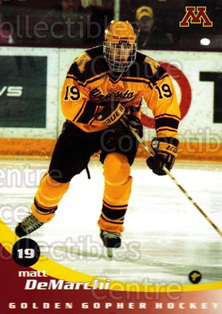 2002-03 Minnesota Golden Gophers #4 Matt DeMarchi<br/>2 In Stock - $3.00 each - <a href=https://centericecollectibles.foxycart.com/cart?name=2002-03%20Minnesota%20Golden%20Gophers%20%234%20Matt%20DeMarchi...&quantity_max=2&price=$3.00&code=643766 class=foxycart> Buy it now! </a>