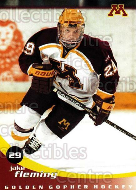 2002-03 Minnesota Golden Gophers #6 Jake Fleming<br/>2 In Stock - $3.00 each - <a href=https://centericecollectibles.foxycart.com/cart?name=2002-03%20Minnesota%20Golden%20Gophers%20%236%20Jake%20Fleming...&quantity_max=2&price=$3.00&code=643768 class=foxycart> Buy it now! </a>