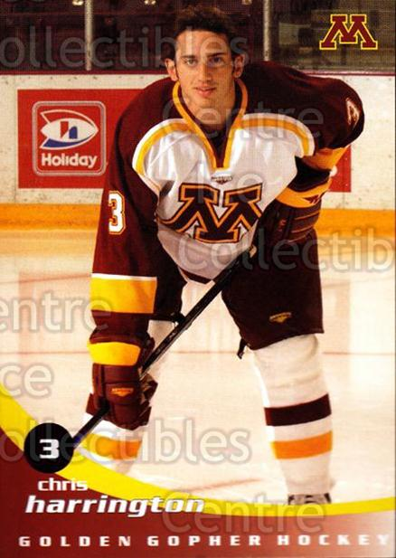 2002-03 Minnesota Golden Gophers #8 Chris Harrington<br/>1 In Stock - $3.00 each - <a href=https://centericecollectibles.foxycart.com/cart?name=2002-03%20Minnesota%20Golden%20Gophers%20%238%20Chris%20Harringto...&quantity_max=1&price=$3.00&code=643770 class=foxycart> Buy it now! </a>