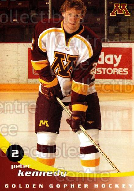 2002-03 Minnesota Golden Gophers #11 Peter Kennedy<br/>2 In Stock - $3.00 each - <a href=https://centericecollectibles.foxycart.com/cart?name=2002-03%20Minnesota%20Golden%20Gophers%20%2311%20Peter%20Kennedy...&quantity_max=2&price=$3.00&code=643773 class=foxycart> Buy it now! </a>