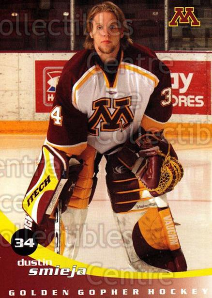 2002-03 Minnesota Golden Gophers #22 Dustin Smieja<br/>2 In Stock - $3.00 each - <a href=https://centericecollectibles.foxycart.com/cart?name=2002-03%20Minnesota%20Golden%20Gophers%20%2322%20Dustin%20Smieja...&quantity_max=2&price=$3.00&code=643784 class=foxycart> Buy it now! </a>