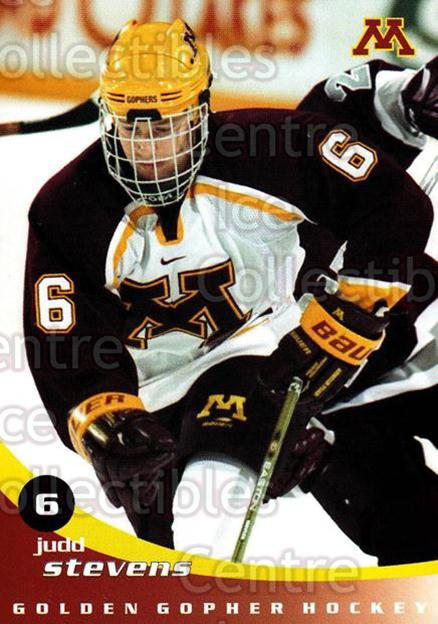 2002-03 Minnesota Golden Gophers #23 Judd Stevens<br/>2 In Stock - $3.00 each - <a href=https://centericecollectibles.foxycart.com/cart?name=2002-03%20Minnesota%20Golden%20Gophers%20%2323%20Judd%20Stevens...&quantity_max=2&price=$3.00&code=643785 class=foxycart> Buy it now! </a>