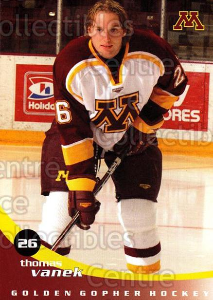 2002-03 Minnesota Golden Gophers #25 Thomas Vanek<br/>1 In Stock - $10.00 each - <a href=https://centericecollectibles.foxycart.com/cart?name=2002-03%20Minnesota%20Golden%20Gophers%20%2325%20Thomas%20Vanek...&quantity_max=1&price=$10.00&code=643787 class=foxycart> Buy it now! </a>