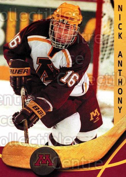 2000-01 Minnesota Golden Gophers #3 Nick Anthony<br/>2 In Stock - $3.00 each - <a href=https://centericecollectibles.foxycart.com/cart?name=2000-01%20Minnesota%20Golden%20Gophers%20%233%20Nick%20Anthony...&quantity_max=2&price=$3.00&code=643796 class=foxycart> Buy it now! </a>