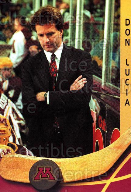 2000-01 Minnesota Golden Gophers #11 Don Lucia<br/>2 In Stock - $3.00 each - <a href=https://centericecollectibles.foxycart.com/cart?name=2000-01%20Minnesota%20Golden%20Gophers%20%2311%20Don%20Lucia...&quantity_max=2&price=$3.00&code=643804 class=foxycart> Buy it now! </a>
