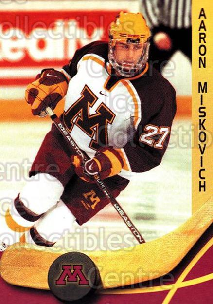 2000-01 Minnesota Golden Gophers #15 Aaron Miskovich<br/>2 In Stock - $3.00 each - <a href=https://centericecollectibles.foxycart.com/cart?name=2000-01%20Minnesota%20Golden%20Gophers%20%2315%20Aaron%20Miskovich...&quantity_max=2&price=$3.00&code=643808 class=foxycart> Buy it now! </a>