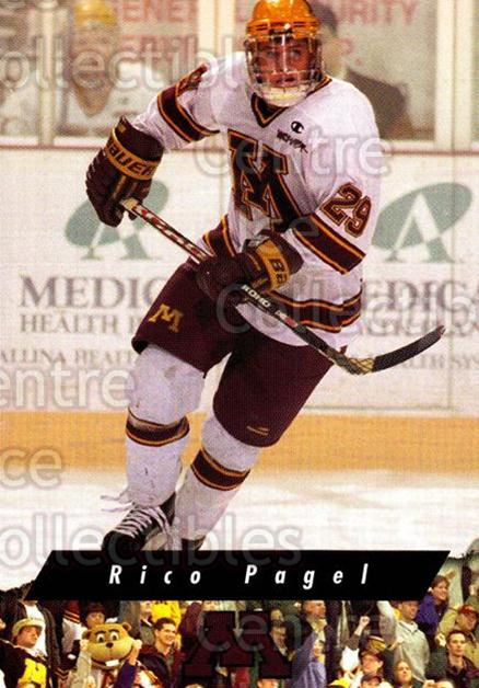 1998-99 Minnesota Golden Gophers #16 Rico Pagel<br/>1 In Stock - $3.00 each - <a href=https://centericecollectibles.foxycart.com/cart?name=1998-99%20Minnesota%20Golden%20Gophers%20%2316%20Rico%20Pagel...&quantity_max=1&price=$3.00&code=643837 class=foxycart> Buy it now! </a>