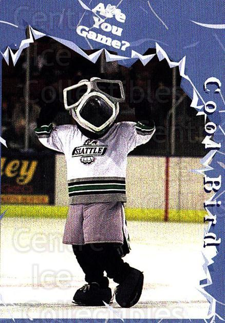 1997-98 Seattle Thunderbirds #2 Mascot<br/>6 In Stock - $3.00 each - <a href=https://centericecollectibles.foxycart.com/cart?name=1997-98%20Seattle%20Thunderbirds%20%232%20Mascot...&quantity_max=6&price=$3.00&code=64384 class=foxycart> Buy it now! </a>