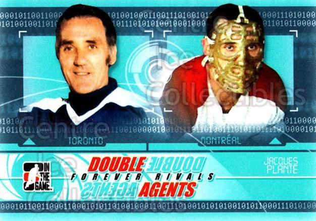 2012-13 ITG Forever Rivals Double Agents #6 Jacques Plante<br/>2 In Stock - $3.00 each - <a href=https://centericecollectibles.foxycart.com/cart?name=2012-13%20ITG%20Forever%20Rivals%20Double%20Agents%20%236%20Jacques%20Plante...&quantity_max=2&price=$3.00&code=643885 class=foxycart> Buy it now! </a>