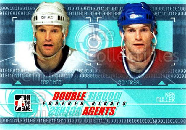2012-13 ITG Forever Rivals Double Agents #7 Kirk Muller<br/>6 In Stock - $3.00 each - <a href=https://centericecollectibles.foxycart.com/cart?name=2012-13%20ITG%20Forever%20Rivals%20Double%20Agents%20%237%20Kirk%20Muller...&quantity_max=6&price=$3.00&code=643886 class=foxycart> Buy it now! </a>