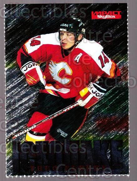 1995-96 SkyBox Impact Promos #1 Theo Fleury<br/>1 In Stock - $3.00 each - <a href=https://centericecollectibles.foxycart.com/cart?name=1995-96%20SkyBox%20Impact%20Promos%20%231%20Theo%20Fleury...&quantity_max=1&price=$3.00&code=644364 class=foxycart> Buy it now! </a>