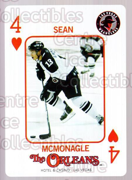 2010-11 Las Vegas Wranglers Playing Card #4 Sean McMonagle<br/>1 In Stock - $3.00 each - <a href=https://centericecollectibles.foxycart.com/cart?name=2010-11%20Las%20Vegas%20Wranglers%20Playing%20Card%20%234%20Sean%20McMonagle...&quantity_max=1&price=$3.00&code=644454 class=foxycart> Buy it now! </a>