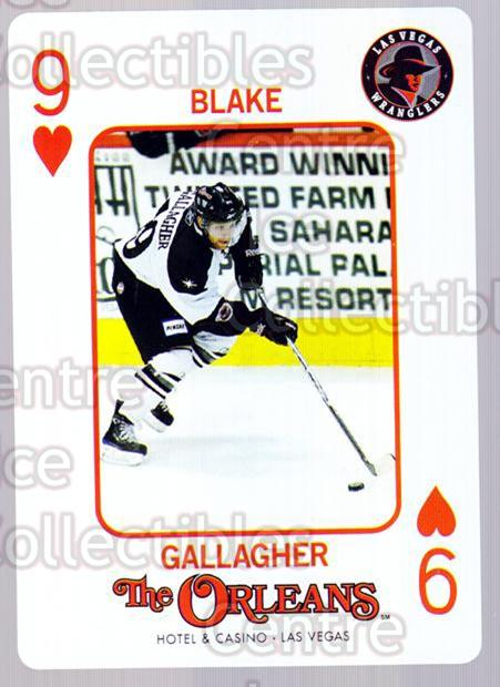2010-11 Las Vegas Wranglers Playing Card #9 Blake Gallagher<br/>1 In Stock - $3.00 each - <a href=https://centericecollectibles.foxycart.com/cart?name=2010-11%20Las%20Vegas%20Wranglers%20Playing%20Card%20%239%20Blake%20Gallagher...&quantity_max=1&price=$3.00&code=644459 class=foxycart> Buy it now! </a>