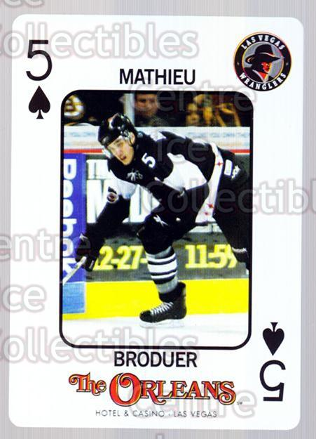2010-11 Las Vegas Wranglers Playing Card #18 Mathieu Broduer<br/>1 In Stock - $3.00 each - <a href=https://centericecollectibles.foxycart.com/cart?name=2010-11%20Las%20Vegas%20Wranglers%20Playing%20Card%20%2318%20Mathieu%20Broduer...&quantity_max=1&price=$3.00&code=644468 class=foxycart> Buy it now! </a>