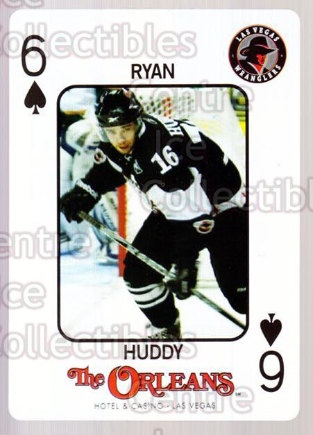 2010-11 Las Vegas Wranglers Playing Card #19 Ryan Huddy<br/>1 In Stock - $3.00 each - <a href=https://centericecollectibles.foxycart.com/cart?name=2010-11%20Las%20Vegas%20Wranglers%20Playing%20Card%20%2319%20Ryan%20Huddy...&quantity_max=1&price=$3.00&code=644469 class=foxycart> Buy it now! </a>
