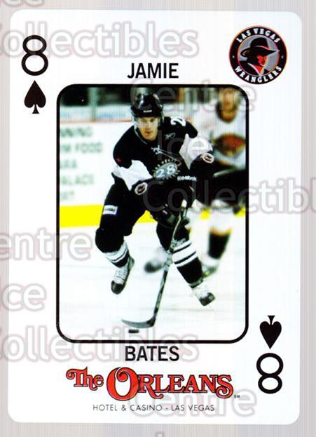 2010-11 Las Vegas Wranglers Playing Card #21 Jamie Bates<br/>1 In Stock - $3.00 each - <a href=https://centericecollectibles.foxycart.com/cart?name=2010-11%20Las%20Vegas%20Wranglers%20Playing%20Card%20%2321%20Jamie%20Bates...&quantity_max=1&price=$3.00&code=644471 class=foxycart> Buy it now! </a>
