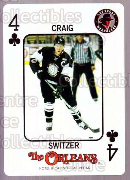 2010-11 Las Vegas Wranglers Playing Card #43 Craig Switzer<br/>1 In Stock - $3.00 each - <a href=https://centericecollectibles.foxycart.com/cart?name=2010-11%20Las%20Vegas%20Wranglers%20Playing%20Card%20%2343%20Craig%20Switzer...&quantity_max=1&price=$3.00&code=644493 class=foxycart> Buy it now! </a>