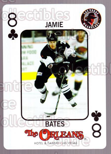 2010-11 Las Vegas Wranglers Playing Card #47 Jamie Bates<br/>1 In Stock - $3.00 each - <a href=https://centericecollectibles.foxycart.com/cart?name=2010-11%20Las%20Vegas%20Wranglers%20Playing%20Card%20%2347%20Jamie%20Bates...&quantity_max=1&price=$3.00&code=644497 class=foxycart> Buy it now! </a>