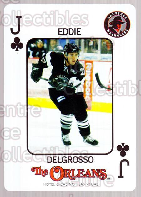 2010-11 Las Vegas Wranglers Playing Card #50 Eddie Delgrosso<br/>1 In Stock - $3.00 each - <a href=https://centericecollectibles.foxycart.com/cart?name=2010-11%20Las%20Vegas%20Wranglers%20Playing%20Card%20%2350%20Eddie%20Delgrosso...&quantity_max=1&price=$3.00&code=644500 class=foxycart> Buy it now! </a>