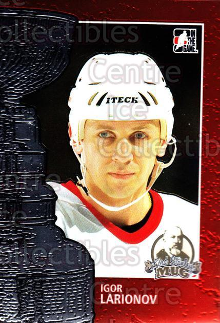 2013-14 ITG Lord Stanley's Mug #53 Igor Larionov<br/>13 In Stock - $3.00 each - <a href=https://centericecollectibles.foxycart.com/cart?name=2013-14%20ITG%20Lord%20Stanley's%20Mug%20%2353%20Igor%20Larionov...&quantity_max=13&price=$3.00&code=644884 class=foxycart> Buy it now! </a>