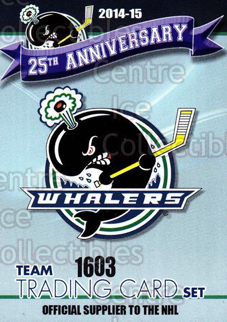 2014-15 Plymouth Whalers #1 Header Card<br/>8 In Stock - $3.00 each - <a href=https://centericecollectibles.foxycart.com/cart?name=2014-15%20Plymouth%20Whalers%20%231%20Header%20Card...&price=$3.00&code=644937 class=foxycart> Buy it now! </a>