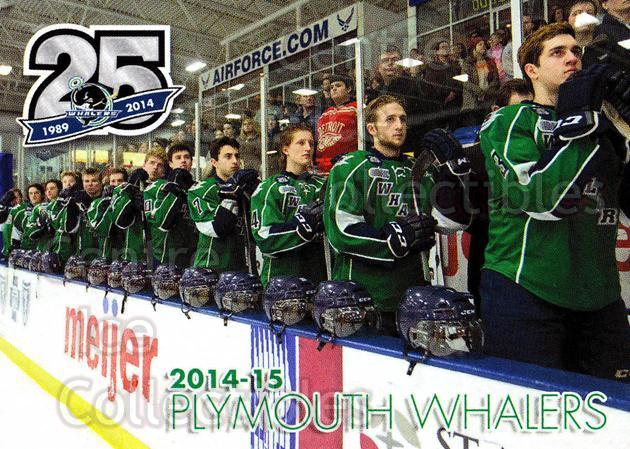 2014-15 Plymouth Whalers #32 Checklist, Team Photo<br/>8 In Stock - $2.00 each - <a href=https://centericecollectibles.foxycart.com/cart?name=2014-15%20Plymouth%20Whalers%20%2332%20Checklist,%20Team...&price=$2.00&code=644968 class=foxycart> Buy it now! </a>