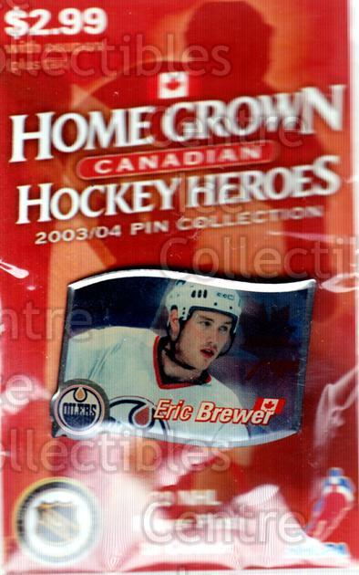 2003-04 Home Grown Canadian Hockey Heroes Pin #2 Eric Brewer<br/>1 In Stock - $5.00 each - <a href=https://centericecollectibles.foxycart.com/cart?name=2003-04%20Home%20Grown%20Canadian%20Hockey%20Heroes%20Pin%20%232%20Eric%20Brewer...&quantity_max=1&price=$5.00&code=645038 class=foxycart> Buy it now! </a>