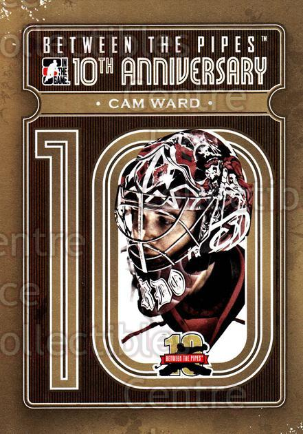 2011-12 Between The Pipes 10th Anniversary #5 Cam Ward<br/>3 In Stock - $3.00 each - <a href=https://centericecollectibles.foxycart.com/cart?name=2011-12%20Between%20The%20Pipes%2010th%20Anniversary%20%235%20Cam%20Ward...&price=$3.00&code=645073 class=foxycart> Buy it now! </a>
