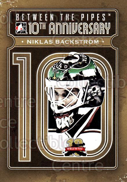 2011-12 Between The Pipes 10th Anniversary #13 Niklas Backstrom<br/>2 In Stock - $3.00 each - <a href=https://centericecollectibles.foxycart.com/cart?name=2011-12%20Between%20The%20Pipes%2010th%20Anniversary%20%2313%20Niklas%20Backstro...&quantity_max=2&price=$3.00&code=645081 class=foxycart> Buy it now! </a>