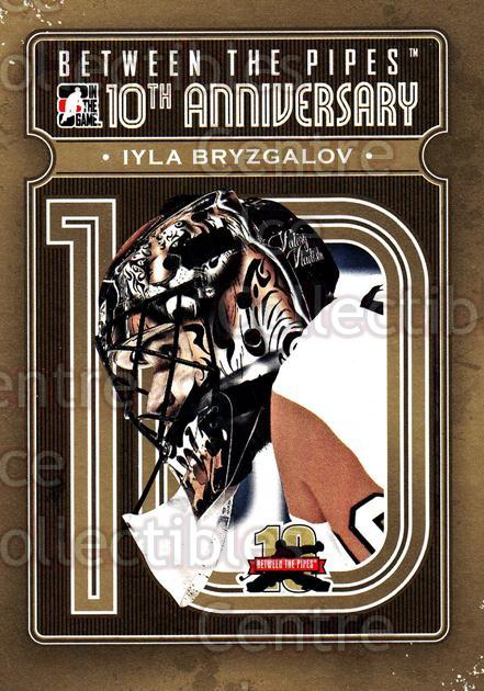 2011-12 Between The Pipes 10th Anniversary #19 Ilya Bryzgalov<br/>5 In Stock - $3.00 each - <a href=https://centericecollectibles.foxycart.com/cart?name=2011-12%20Between%20The%20Pipes%2010th%20Anniversary%20%2319%20Ilya%20Bryzgalov...&quantity_max=5&price=$3.00&code=645087 class=foxycart> Buy it now! </a>