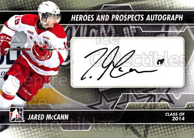 2013-14 ITG Heroes and Prospects Auto #AJMC Jared McCann<br/>1 In Stock - $5.00 each - <a href=https://centericecollectibles.foxycart.com/cart?name=2013-14%20ITG%20Heroes%20and%20Prospects%20Auto%20%23AJMC%20Jared%20McCann...&price=$5.00&code=645275 class=foxycart> Buy it now! </a>