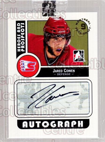 2009 ITG Heroes and Prospects Draft Day Super Box #JC Jared Cowen<br/>4 In Stock - $10.00 each - <a href=https://centericecollectibles.foxycart.com/cart?name=2009%20ITG%20Heroes%20and%20Prospects%20Draft%20Day%20Super%20Box%20%23JC%20Jared%20Cowen...&quantity_max=4&price=$10.00&code=645391 class=foxycart> Buy it now! </a>