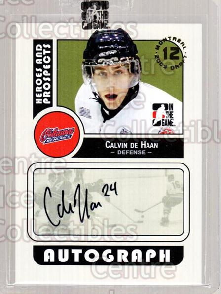 2009 ITG Heroes and Prospects Draft Day Super Box #CDH Calvin De Haan<br/>4 In Stock - $10.00 each - <a href=https://centericecollectibles.foxycart.com/cart?name=2009%20ITG%20Heroes%20and%20Prospects%20Draft%20Day%20Super%20Box%20%23CDH%20Calvin%20De%20Haan...&quantity_max=4&price=$10.00&code=645393 class=foxycart> Buy it now! </a>