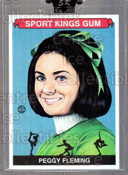 2008 Sportkings #104 Peggy Fleming<br/>20 In Stock - $5.00 each - <a href=https://centericecollectibles.foxycart.com/cart?name=2008%20Sportkings%20%23104%20Peggy%20Fleming...&quantity_max=20&price=$5.00&code=645469 class=foxycart> Buy it now! </a>