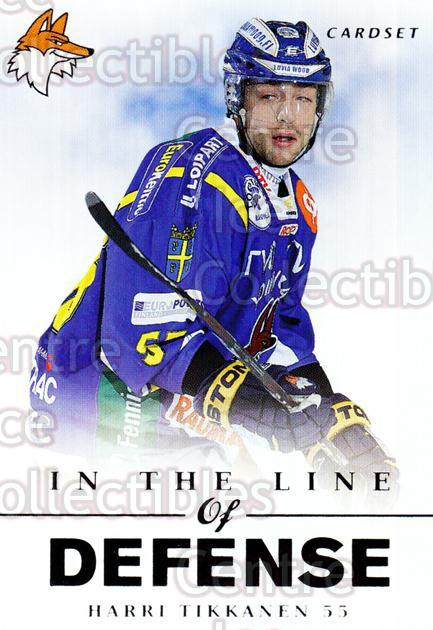 2012-13 Finnish Cardset In The Line of Defense #9 Harri Tikkanen<br/>3 In Stock - $3.00 each - <a href=https://centericecollectibles.foxycart.com/cart?name=2012-13%20Finnish%20Cardset%20In%20The%20Line%20of%20Defense%20%239%20Harri%20Tikkanen...&quantity_max=3&price=$3.00&code=645519 class=foxycart> Buy it now! </a>