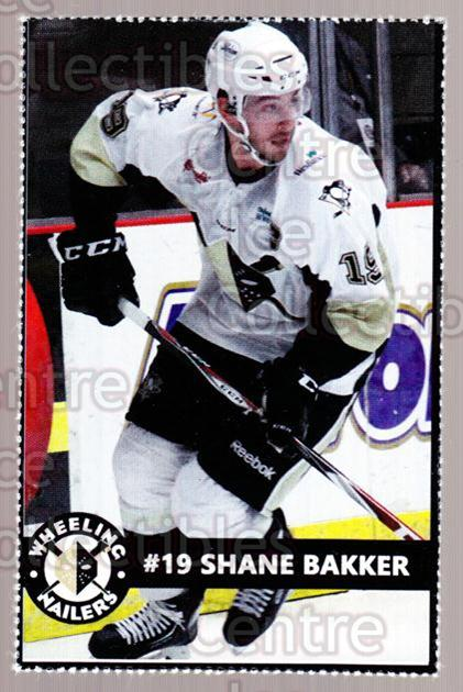 2014-15 Wheeling Nailers #2 Shane Bakker<br/>2 In Stock - $3.00 each - <a href=https://centericecollectibles.foxycart.com/cart?name=2014-15%20Wheeling%20Nailers%20%232%20Shane%20Bakker...&quantity_max=2&price=$3.00&code=645560 class=foxycart> Buy it now! </a>