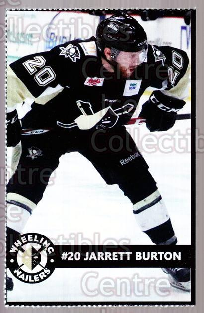 2014-15 Wheeling Nailers #4 Jarrett Burton<br/>2 In Stock - $3.00 each - <a href=https://centericecollectibles.foxycart.com/cart?name=2014-15%20Wheeling%20Nailers%20%234%20Jarrett%20Burton...&quantity_max=2&price=$3.00&code=645562 class=foxycart> Buy it now! </a>